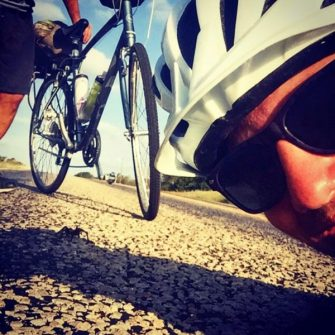 Two cyclists cycling across America