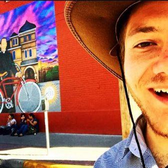 Nicholas Orsini on his bike ride across America