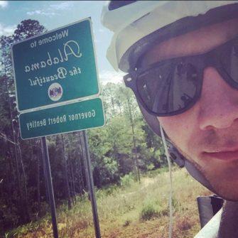 Cyclist in Alabama USA