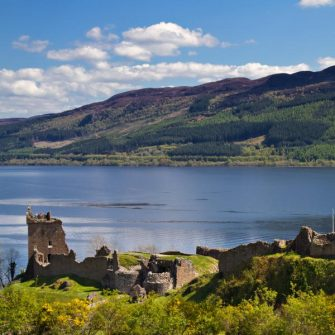 View over Loch Ness makes a beautiful vista on a Loch Ness cycle route