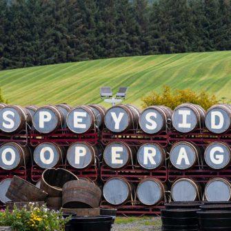 Whiskey at Speyside cooperage