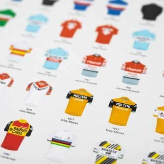 cycling print with TdF winners makes a great gift for cyclists