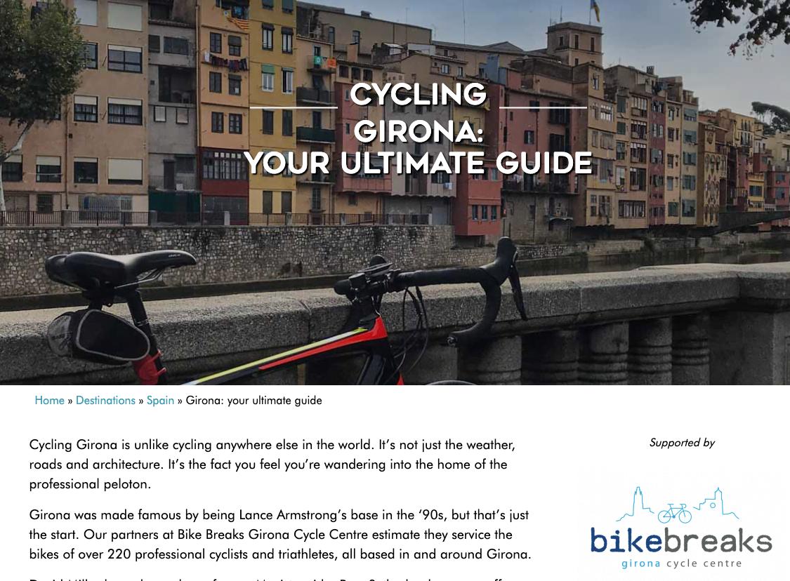 Cycling blog bike shop advertisement