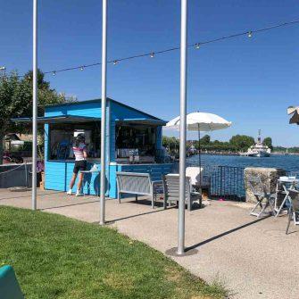Ice cream stop on the circuit of Lake Geneva