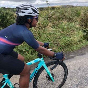 Yewande Adesida cycling near london
