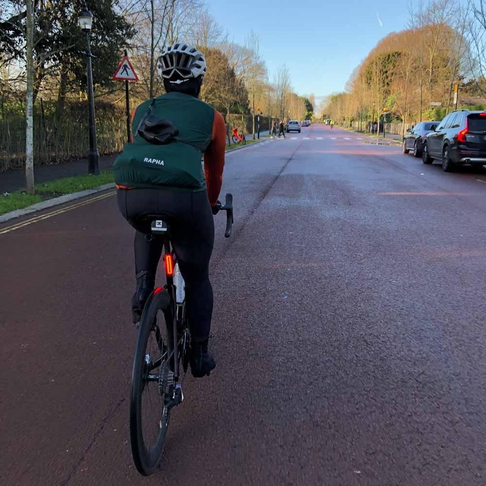 Female cyclist Richmond Park UK