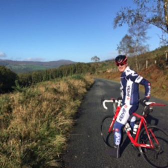 Road cycling in the Wicklow Mountains Ireland