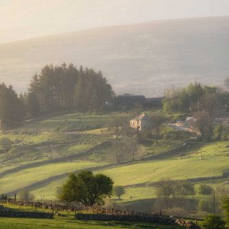 Mist covered hills of the Wicklow Mountains, Ireland