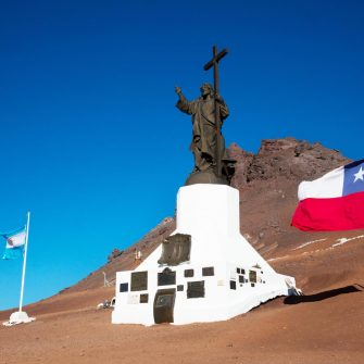 Christ the Redeemer between Chile and Argentina