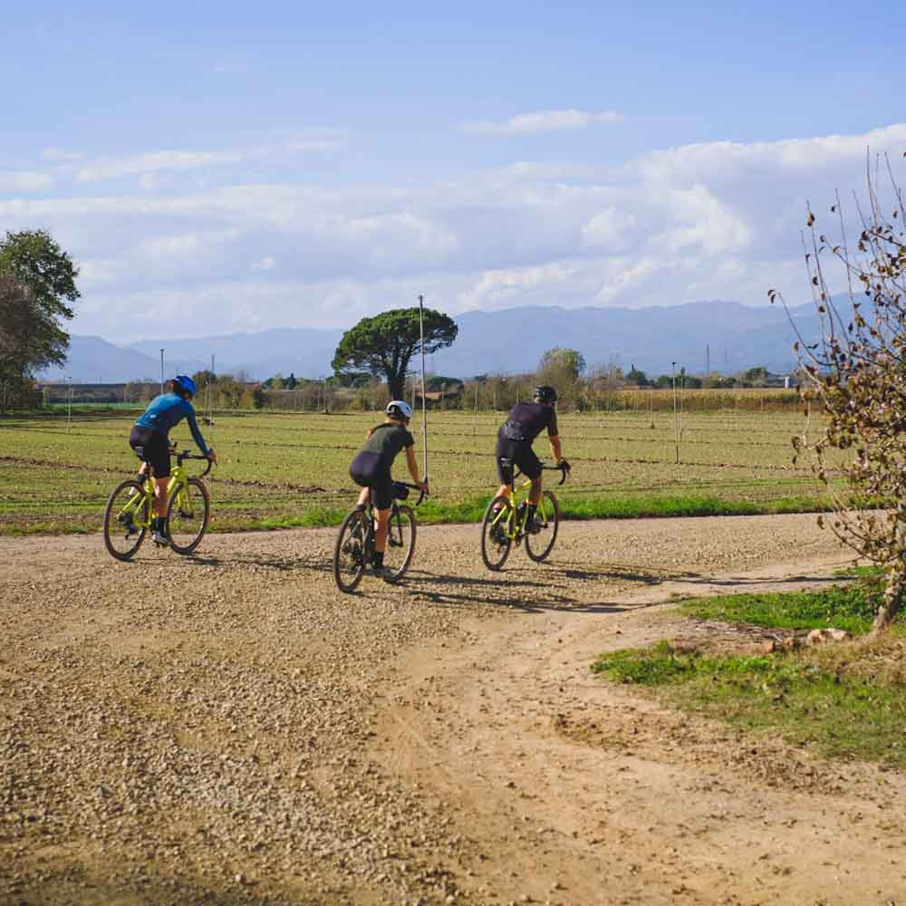 Gravel riding off-road around Girona
