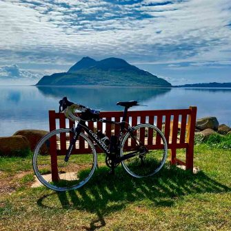 Bicycle at Lamlash, Isle of Arran Scotland
