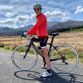 Janice Small founder of Arran Belle cyclists Isle of Arran Scotland
