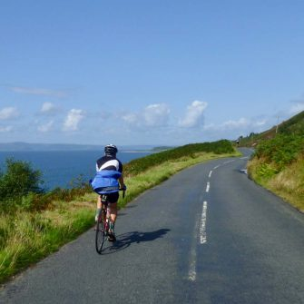 Cycling route on Arran in the southwest of the island