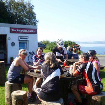 Cycling cafe Isle of Arran Scotland