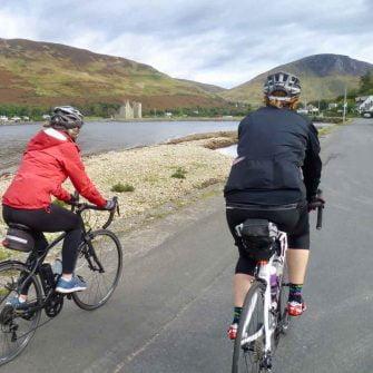 Cycling through Lochranza on Arran, Scotland