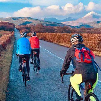 Cyclist on Isle of Arran