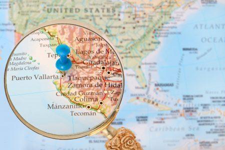 Map showing Puerto Vallarta Mexico