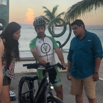 Cyclists getting an ebike Puerto Vallarta Mexico