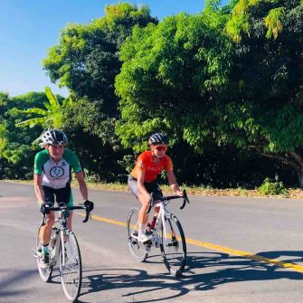 Two cyclists in Mexico