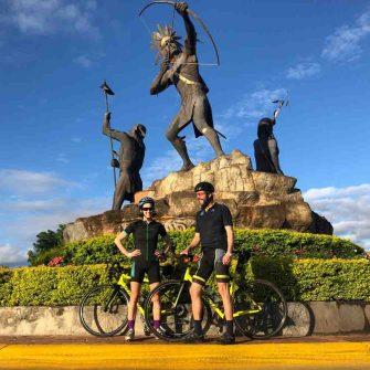 Cyclists in the Puerto Vallarta region of Mexico