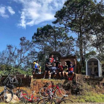 CYclists in the Sierra Madre mountains Mexico