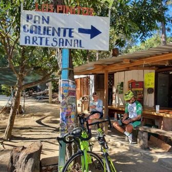 Coffes stop on a cycling route near Puerto Vallarta Mexico