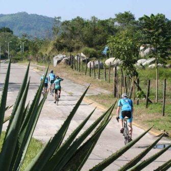 Arriving in El Tuito by bike