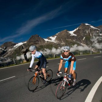 Cyclists climbing Austria's most famous cycling climb Grossglockner (credit: Pinzgau_Heiko Mandl)