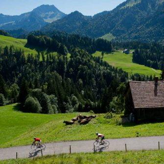 Two cyclists on an Austria bike tour in the Bregenz Forest region of Austria(copyright: Bregenzerwald_Arjan Kruik)