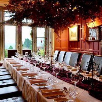 Dining room at Simonstone Hall