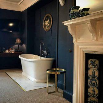 Roll top bath at Simonstone Hall Yorkshire