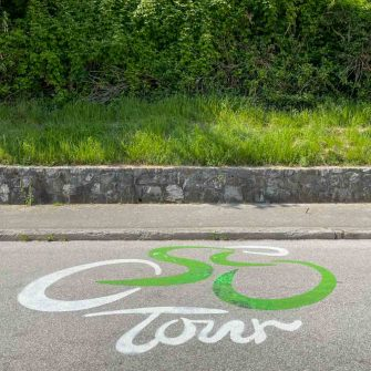 Road marking for the tour of slovenia