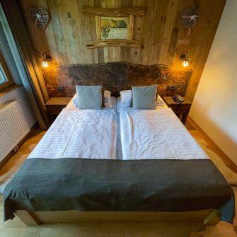Hotel Ribno bedroom a cycling friendly hotel in Slovenia