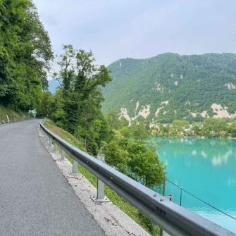 road cycling in Slovenia on the way to Kobarid