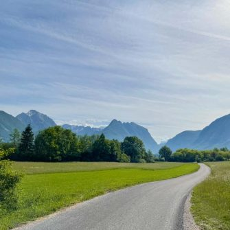 Cycling friendly road in Slovenia