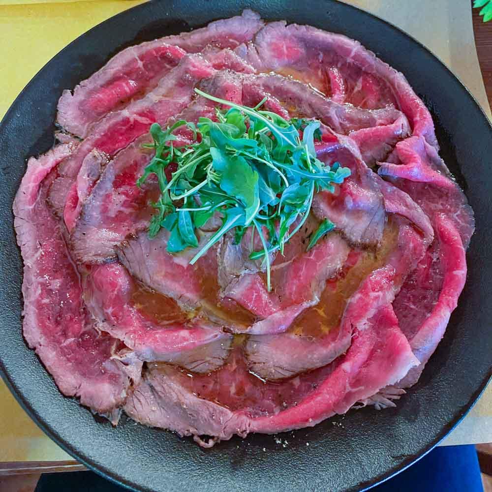 beef on a plate kobarid