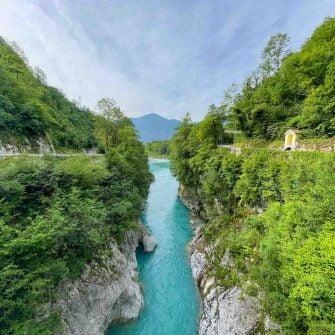 River Soca in Slovenia