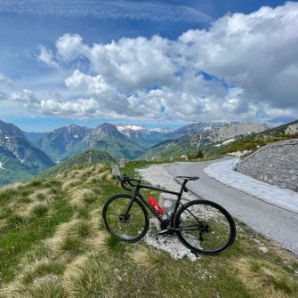 Views from near the top of Mangarts Saddle in Slovenian Alps