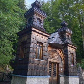 Russian Chapel on the Vrisc cycling Pass in Slovenia