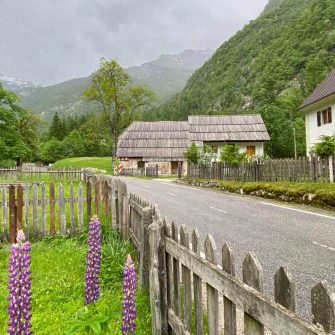 Trenta side of the Vrisc Pass Slovenia