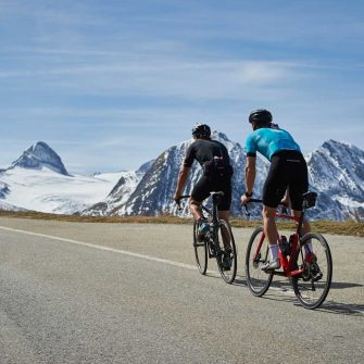 Two cyclists in Switzerland