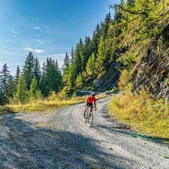 Gravel cyclist in Switzerland