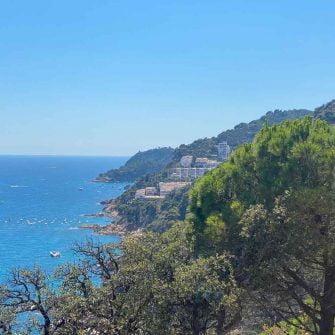 Coastline down the Costa Brava coastline near Tossa del Mar, Catalonia, Spain