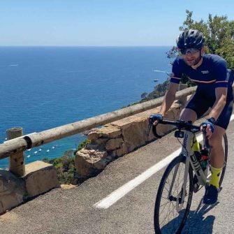 Cycling along the coast near Girona